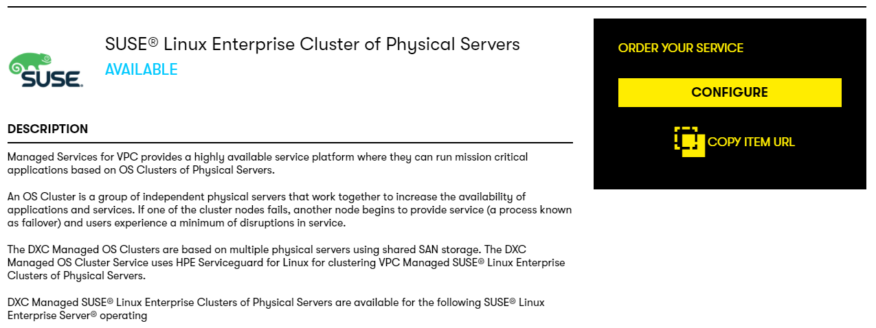 Configuring a SUSE Linux Cluster of Physical Servers